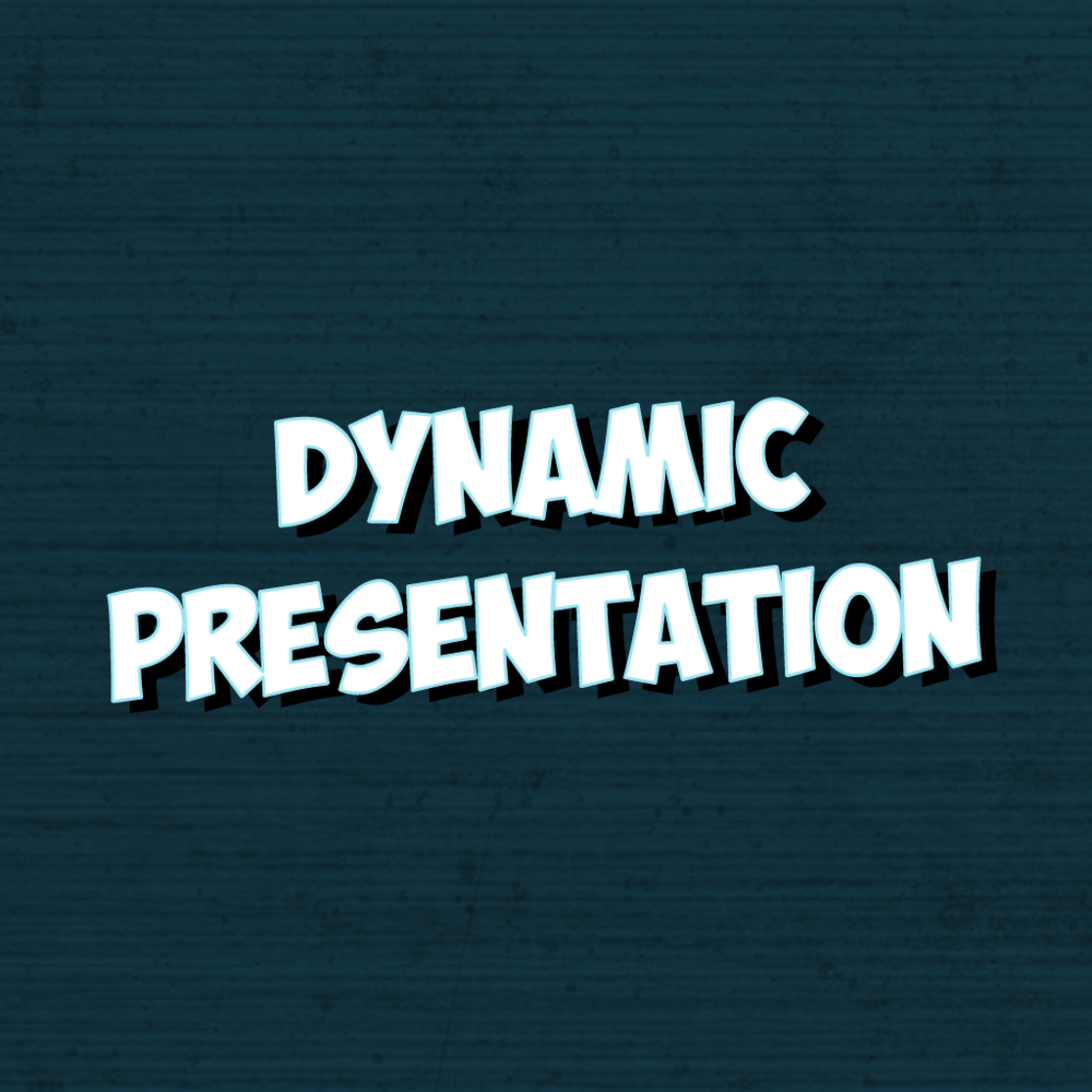 Dynamic presentation graphic