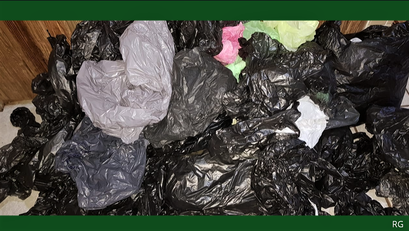 collection of garbage bags