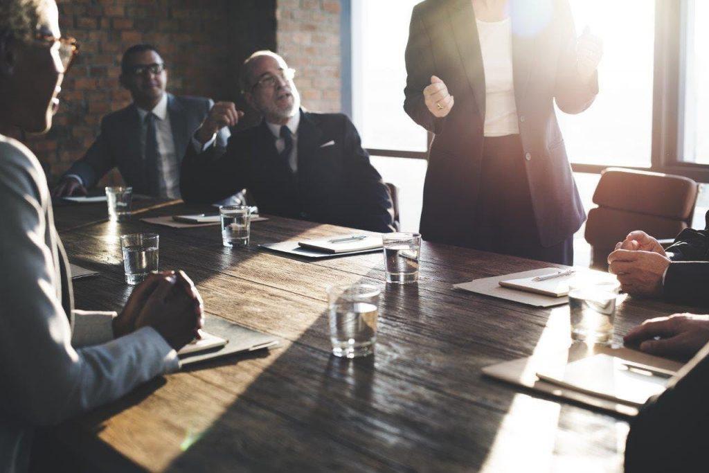 People in boardroom
